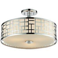 Elea 3 Light 16 inch Chrome Semi Flush Mount Ceiling Light
