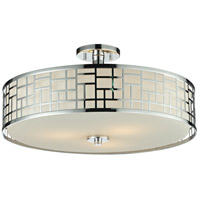 Elea 3 Light 21 inch Chrome Semi-Flush Mount Ceiling Light in 20