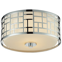 Z-Lite 328F12-CH Elea 2 Light 12 inch Chrome Flush Mount Ceiling Light