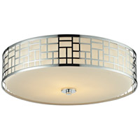 Z-Lite Elea 3 Light Flush Mount in Chrome 328F20-CH