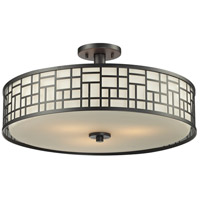 Elea 3 Light 21 inch Bronze Semi Flush Mount Ceiling Light in 20
