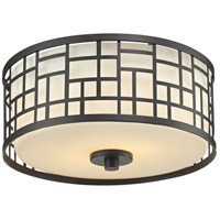 Elea 2 Light 12 inch Bronze Flush Mount Ceiling Light