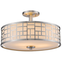 Elea 3 Light 16 inch Brushed Nickel Semi-Flush Mount Ceiling Light