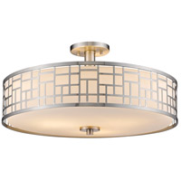 Elea 3 Light 21 inch Brushed Nickel Semi-Flush Mount Ceiling Light in 20