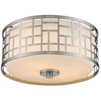 Z-Lite 330F12-BN Elea 2 Light 12 inch Brushed Nickel Flush Mount Ceiling Light