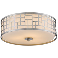 Z-Lite 330F16-BN Elea 3 Light 16 inch Brushed Nickel Flush Mount Ceiling Light
