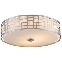 Elea 3 Light 21 inch Brushed Nickel Flush Mount Ceiling Light in 20