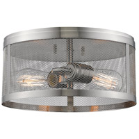 Meshsmith 2 Light 12 inch Brushed Nickel Flush Mount Ceiling Light