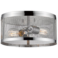 Z-Lite 331F12-CH Meshsmith 2 Light 12 inch Chrome Flush Mount Ceiling Light