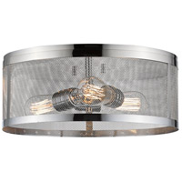 Meshsmith 3 Light 15 inch Chrome Flush Mount Ceiling Light in 14.00