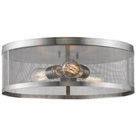 Meshsmith 3 Light 18 inch Brushed Nickel Flush Mount Ceiling Light in 18.00