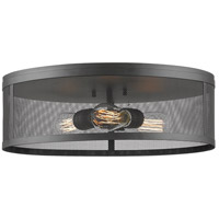 Meshsmith 3 Light 18 inch Bronze Flush Mount Ceiling Light in 18.00