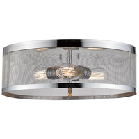 Z-Lite 331F18-CH Meshsmith 3 Light 18 inch Chrome Flush Mount Ceiling Light
