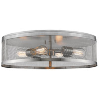 Z-Lite 331F21-BN Meshsmith 4 Light 21 inch Brushed Nickel Flush Mount Ceiling Light