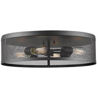 Meshsmith 4 Light 21 inch Bronze Flush Mount Ceiling Light