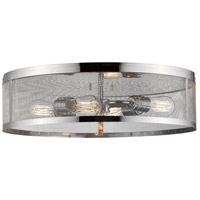 Meshsmith 4 Light 21 inch Chrome Flush Mount Ceiling Light
