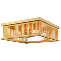 Camellia 4 Light 18 inch Brass Flush Mount Ceiling Light