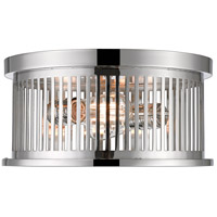 Z-Lite 334F2PN Camellia 2 Light 13 inch Polished Nickel Flush Mount Ceiling Light