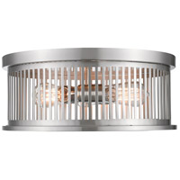 Camellia 3 Light 16 inch Brushed Nickel Flush Mount Ceiling Light