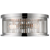 Z-Lite 334F3PN Camellia 3 Light 16 inch Polished Nickel Flush Mount Ceiling Light