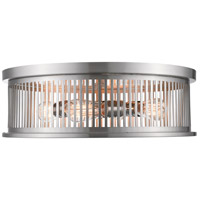Z-Lite 334F4BN Camellia 4 Light 20 inch Brushed Nickel Flush Mount Ceiling Light
