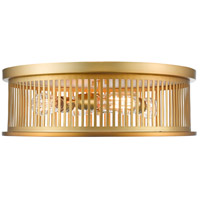 Z-Lite 334F4BR Camellia 4 Light 20 inch Brass Flush Mount Ceiling Light