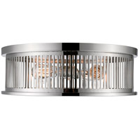 Z-Lite 334F4PN Camellia 4 Light 20 inch Polished Nickel Flush Mount Ceiling Light