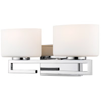 Z-Lite 335-2V-CH-LED Privet 2 Light 16 inch Chrome Vanity Wall Light