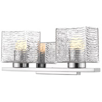 Z-Lite 336-2V-CH-LED Barrett 2 Light 15 inch Chrome Vanity Wall Light