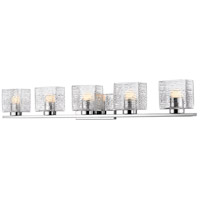 Z-Lite 336-5V-CH-LED Barrett 5 Light 40 inch Chrome Vanity Wall Light
