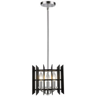 Z-Lite 338-10MB+CH Haake 3 Light 10 inch Chrome Mini Pendant Ceiling Light