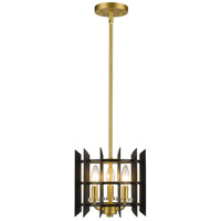 Z-Lite 338-10MB+SBR Haake 3 Light 10 inch Satin Brass Mini Pendant Ceiling Light