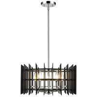 Z-Lite 338-18MB+CH Haake 5 Light 17 inch Chrome Pendant Ceiling Light