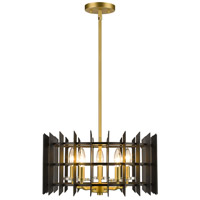 Z-Lite 338-18MB+SBR Haake 5 Light 17 inch Satin Brass Pendant Ceiling Light