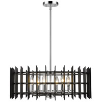 Z-Lite 338-24MB+CH Haake 6 Light 24 inch Chrome Pendant Ceiling Light