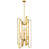 Marsala 12 Light 22 inch Polished Metallic Gold Pendant Ceiling Light