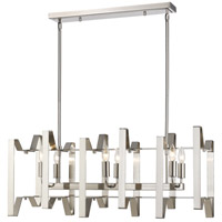 Z-Lite 4000-34BN Marsala 6 Light 34 inch Brushed Nickel Island Light Ceiling Light in 12