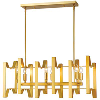 Z-Lite 4000-34PMG Marsala 6 Light 34 inch Polished Metallic Gold Island/Billiard Ceiling Light