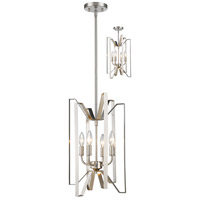 Marsala 4 Light 12 inch Brushed Nickel Pendant Ceiling Light