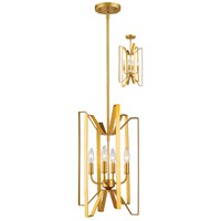 Marsala 4 Light 12 inch Polished Metallic Gold Pendant Ceiling Light