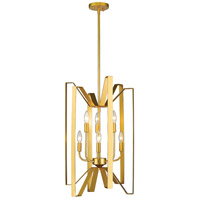 Marsala 6 Light 16 inch Polished Metallic Gold Pendant Ceiling Light