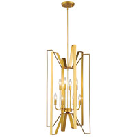 Marsala 8 Light 19 inch Polished Metallic Gold Pendant Ceiling Light