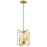 Marsala 3 Light 9 inch Polished Metallic Gold Mini Pendant Ceiling Light