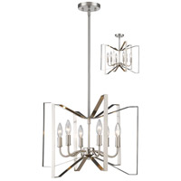 Marsala 6 Light 20 inch Brushed Nickel Pendant Ceiling Light