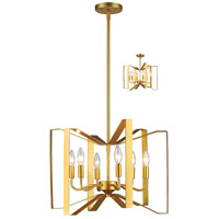 Marsala 6 Light 20 inch Polished Metallic Gold Pendant Ceiling Light