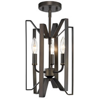Z-Lite 4000SF-BRZ Marsala 3 Light 9 inch Bronze Semi Flush Mount Ceiling Light