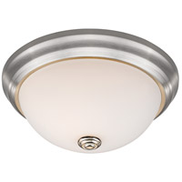 Athena 2 Light 11 inch Brushed Nickel Flush Mount Ceiling Light in Frosted