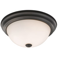 Athena 2 Light 11 inch Bronze Flush Mount Ceiling Light in Frosted