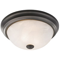 Z-Lite 4001F13-AL-BRZ Athena 2 Light 13 inch Bronze Flush Mount Ceiling Light in Alabaster
