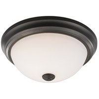 Athena 2 Light 13 inch Bronze Flush Mount Ceiling Light in Frosted